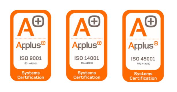 ELETTON CERTIFICADA EN ISO 9001,14001 y 45001.